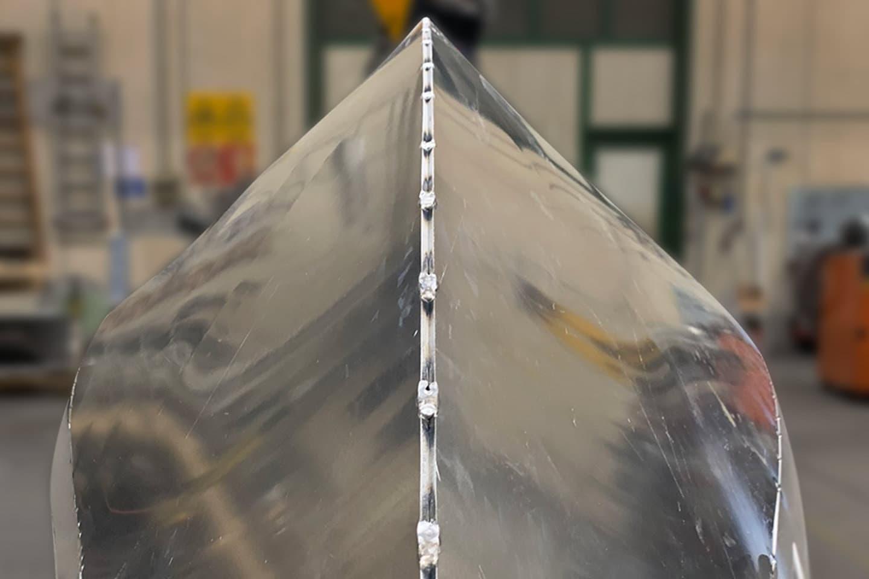 Chiglia monolitica in alluminio
